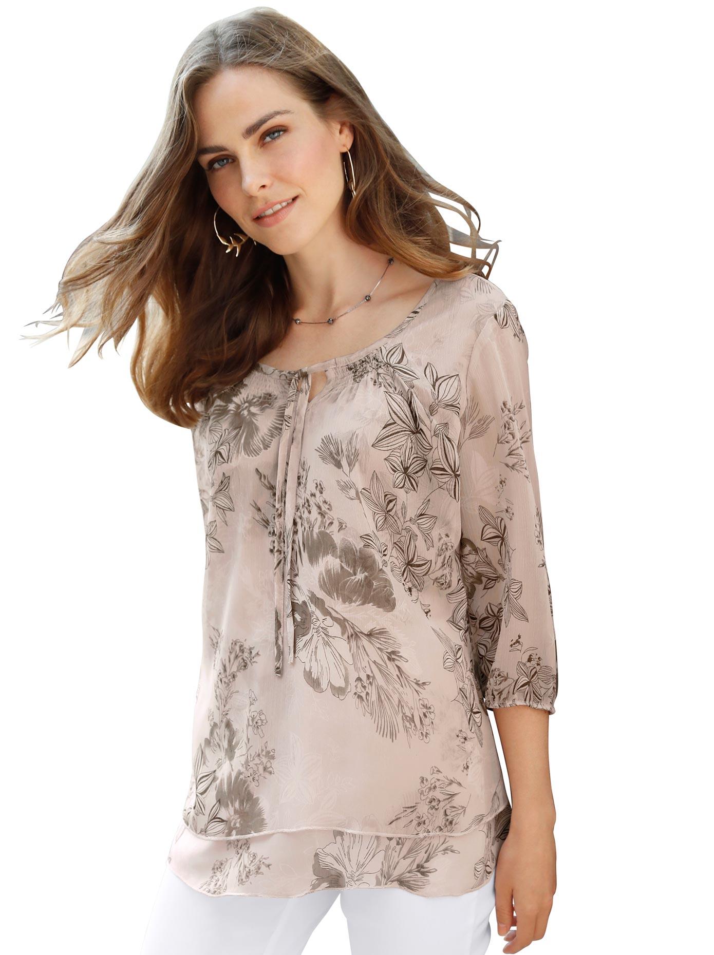 Classic Basics Bluse aus luftigem Chiffon