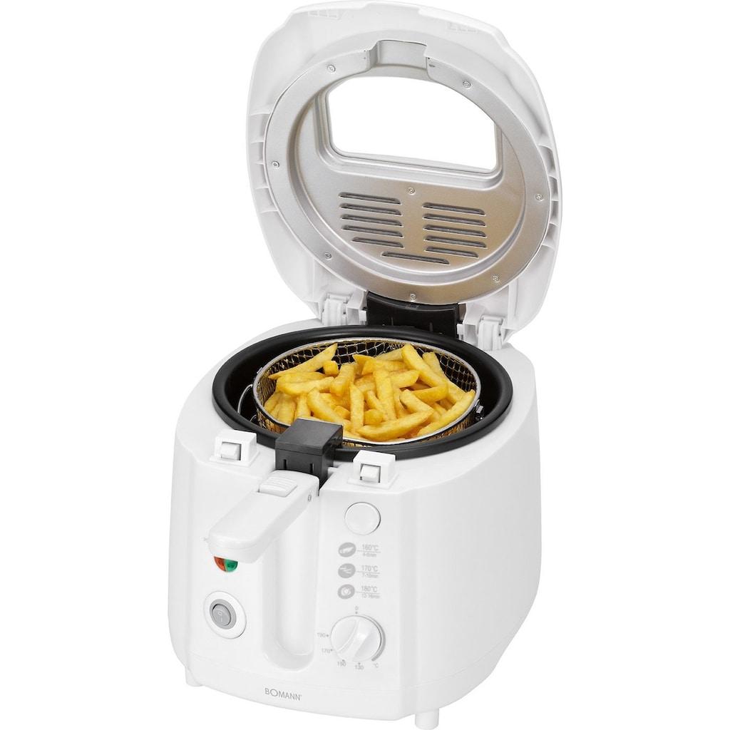 BOMANN Fritteuse »Bomann FR 2223 CB«, Fassungsvermögen 0,4kg. Wechselbarer Geruchs- und Fettdunstfilter