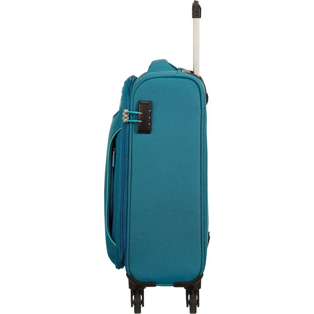 American Tourister® Weichgepäck-Trolley »Holiday Heat, 55 cm, petrol green«, 4 Rollen