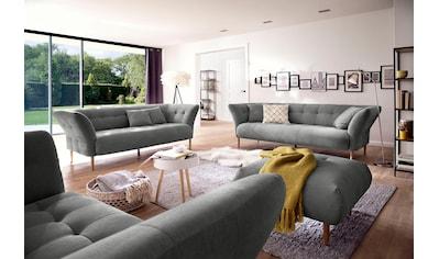 3C Candy 2,5-Sitzer »Trelleborg«, skandinavisches Design mit feiner Steppung und Holzfüßen kaufen