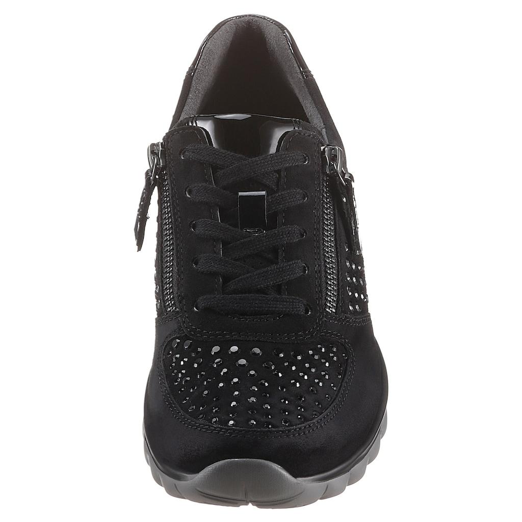 Gabor Rollingsoft Keilsneaker, mit zweckmäßigem Außenreißverschluss
