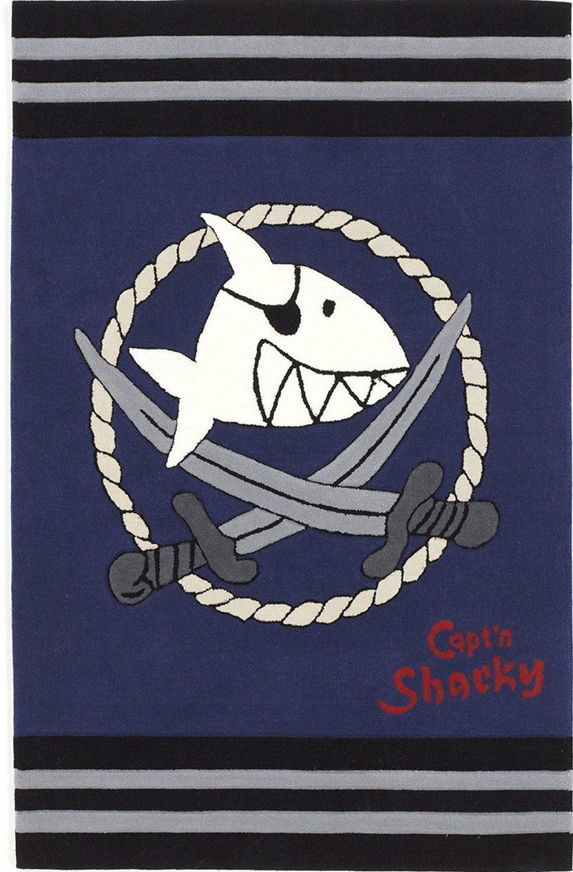Kinderteppich SH-2937-01 Capt`n Sharky rechteckig Höhe 10 mm handgetuftet
