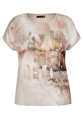Thomas Rabe T-Shirt, mit Glitzersteinen und Paisley-Muster kaufen