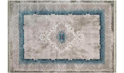 RESITAL The Voice of Carpet Teppich »Vestige 018«, rechteckig, 11 mm Höhe, Kurzflor, Hoch-Tief-Struktur, mit Fransen, Wohnzimmer kaufen