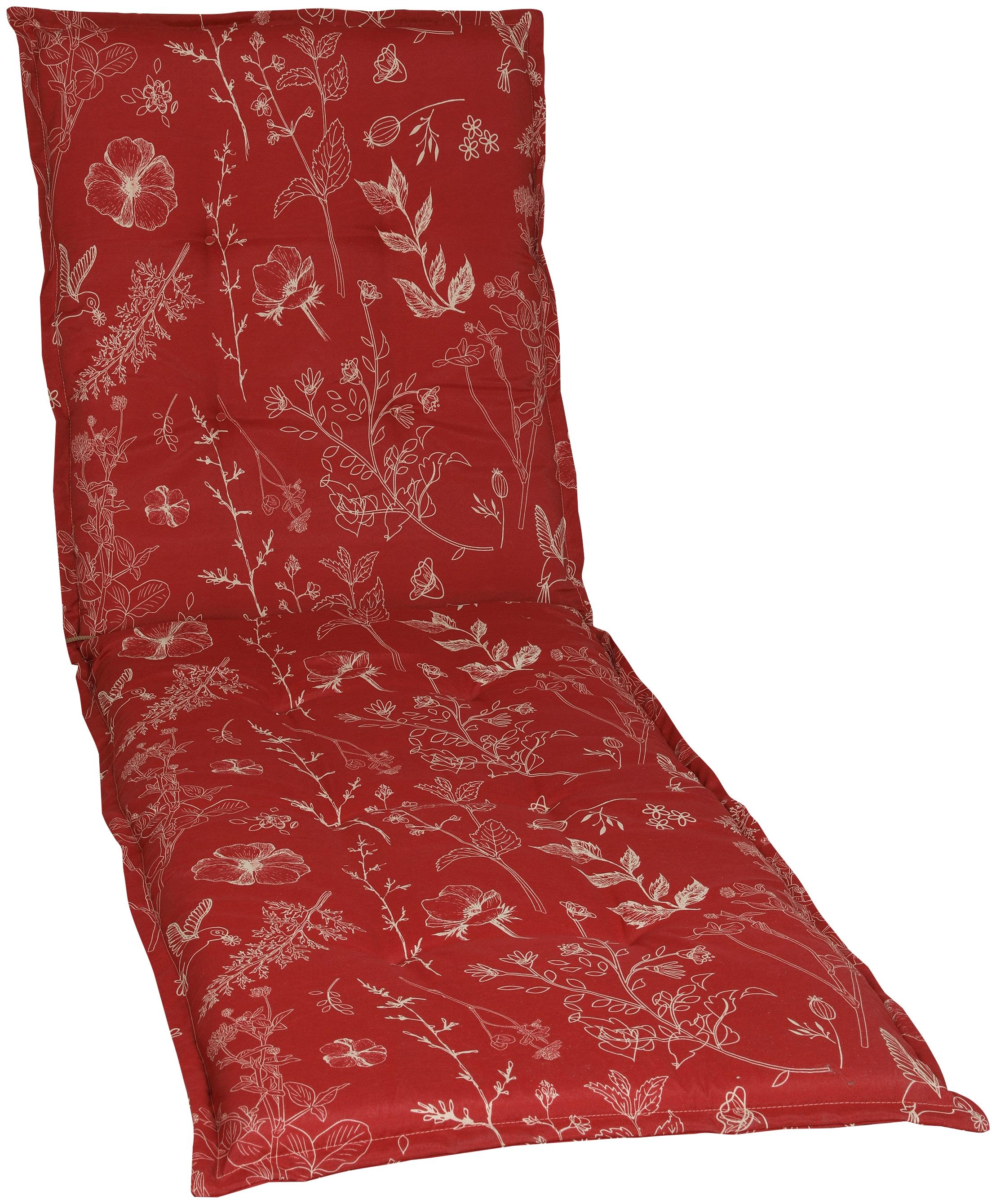 GO-DE Liegenauflage, 190 x 60 cm rot Liegenauflagen Gartenmöbel-Auflagen Gartenmöbel Gartendeko Liegenauflage