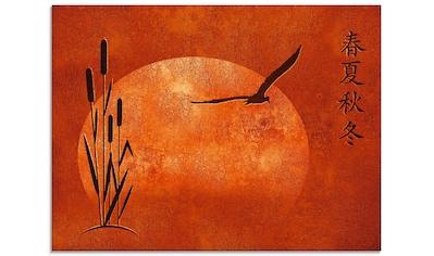 Artland Glasbild »Asiatische Jahreszeiten« kaufen