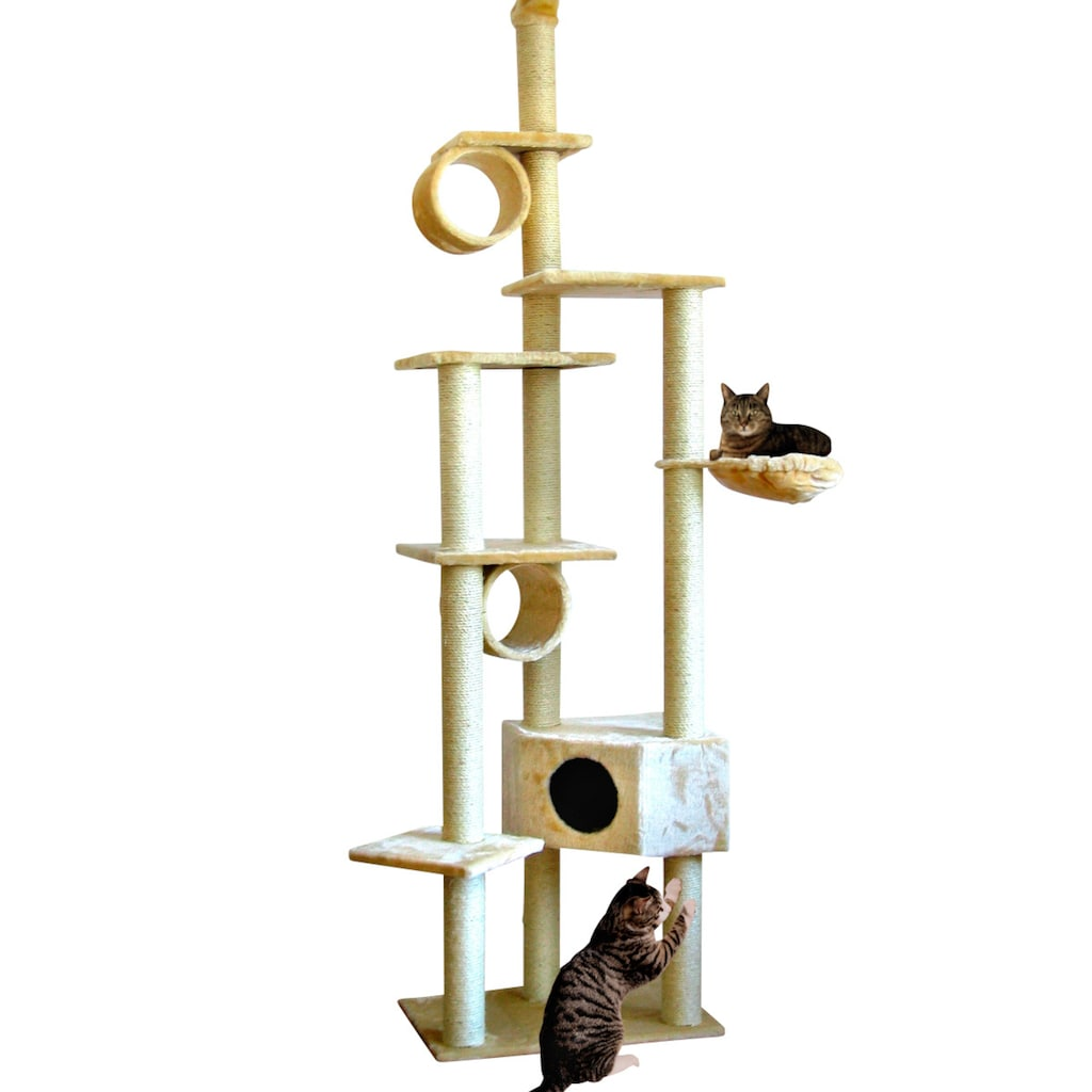 SILVIO design Kratzbaum »Cherry«, hoch, BxTxH: 80x50x230-260 cm