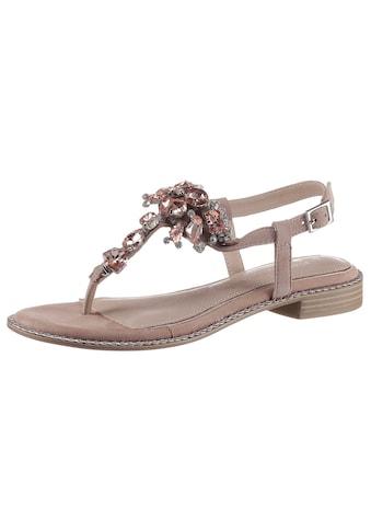 MARCO TOZZI by GMK Sandale, mit eleganter Steinchenverzierung kaufen