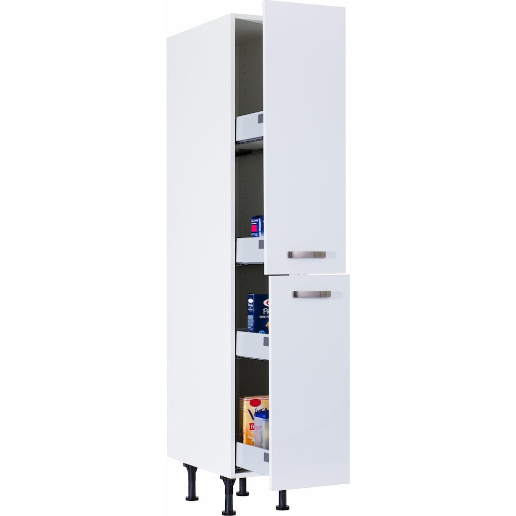 OPTIFIT Apothekerschrank »Cara«, mit 2 Vollauszügen und 4 Ablagen, Soft-Close-Funktion und höhenverstellbaren Stellfüßen, Breite 30 cm