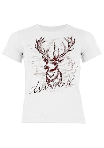 Der Trachtler Trachten T - Shirt mit witzigem Hirschmotiv »Lausmadl« kaufen