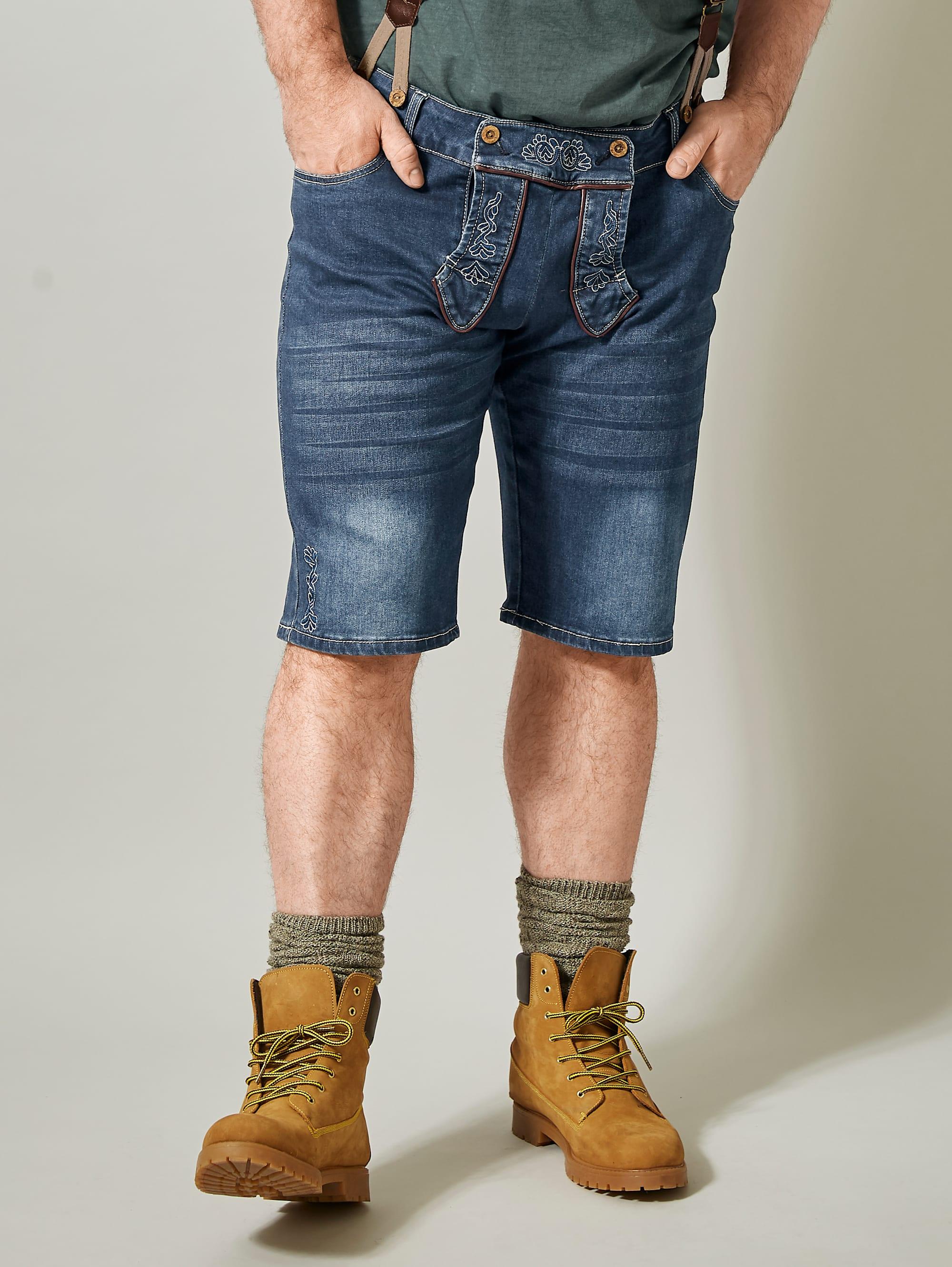 Men Plus by Happy Size Jeansbermuda im Trachten-Look inkl. Hosenträger | Bekleidung > Shorts & Bermudas > Jeans Bermudas | Men Plus By Happy Size