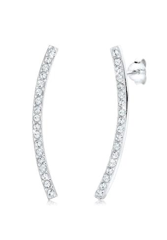 Elli Paar Ohrstecker »Tropfen Geo Trend Kristalle 925 Sterling Silber« kaufen