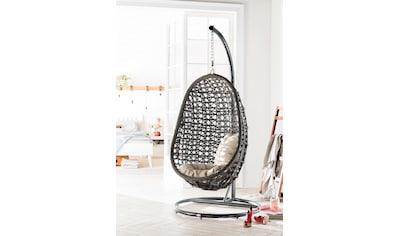 Destiny Hängestuhl »Coco«, Kunststoff, grau, inkl. Sitz- und Rückenkissen kaufen