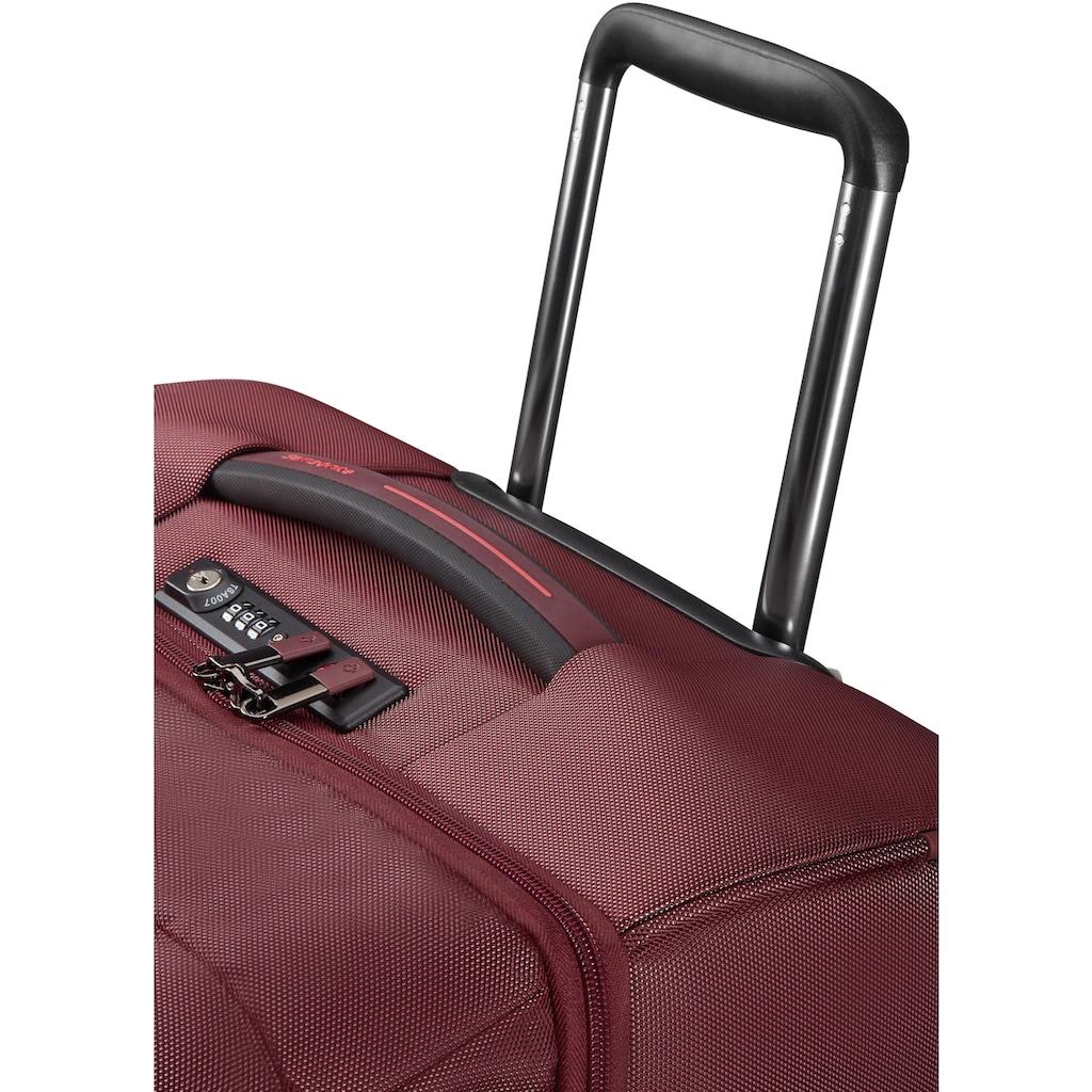 Samsonite Weichgepäck-Trolley »Rythum Duffle 78, burgundy«, 2 Rollen, mit Rollen
