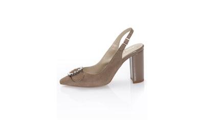 Alba Moda Slingpumps mit Schmuckschnalle auf der Schuhspitze kaufen