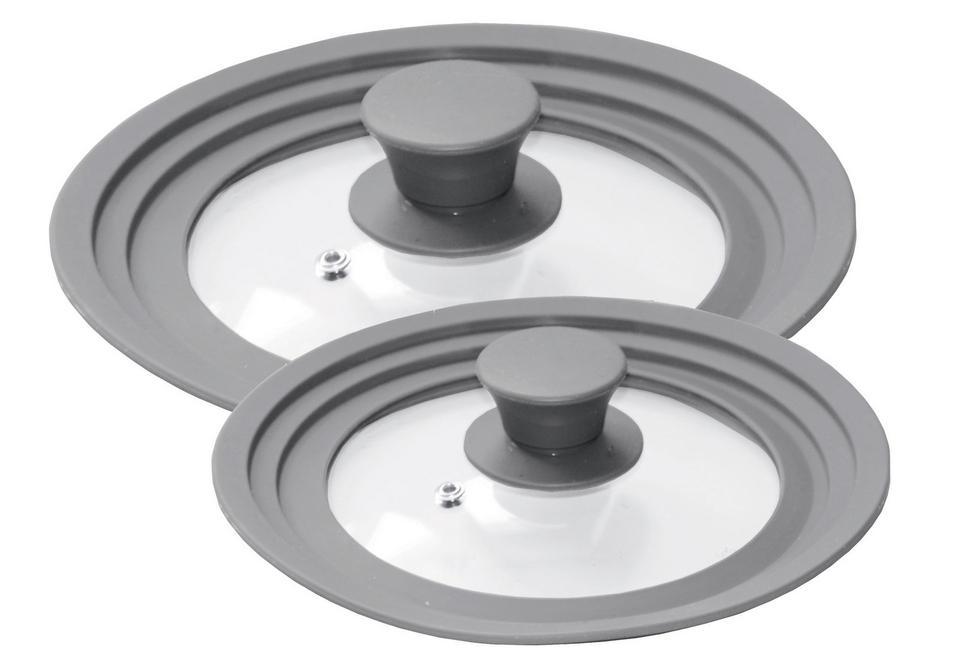STONELINE Deckel STONELINE, (Set, 2 tlg.), für 6 verschiedene Durchmesser grau Zubehör Töpfe Haushaltswaren