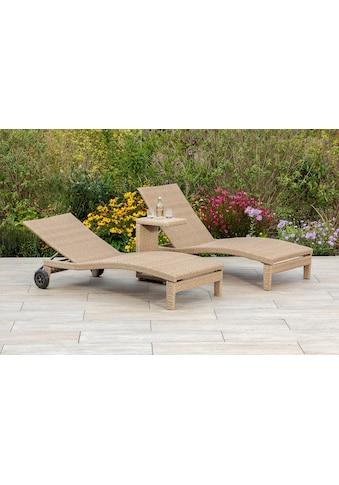 MERXX Gartenmöbelset »Andalusia«, (3 tlg.), 2 Liegen mit Tisch kaufen