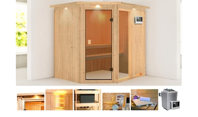 KONIFERA Sauna »Antero 2«, 210x184x202 cm, 9 kW Ofen mit ext. Steuerung, mit Dachkranz kaufen