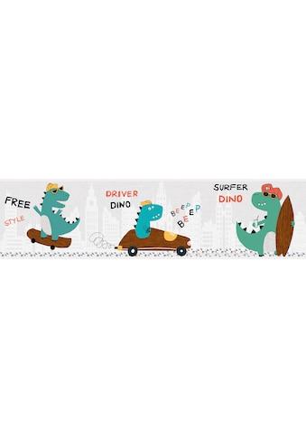 Bordüre »Cool Dino«, für Baby -  und Kinderzimmer, selbstklebend, PVC - frei kaufen