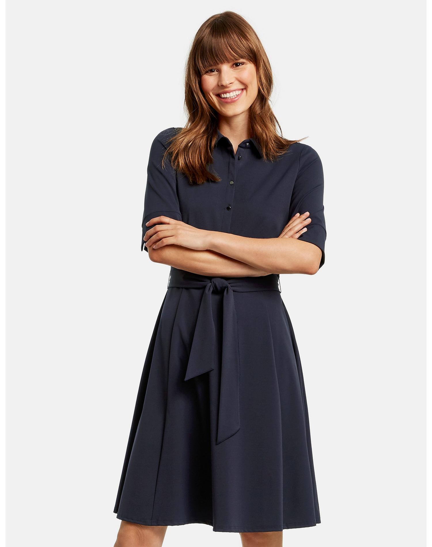 taifun -  Kleid Langarm kurz Hemdblusenkleid aus Stretch-Qualität