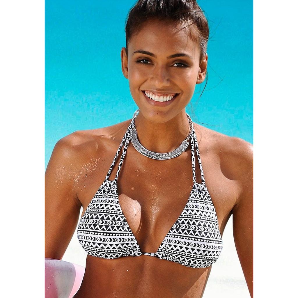 Venice Beach Triangel-Bikini-Top »Ethno«, mit Doppelträgern