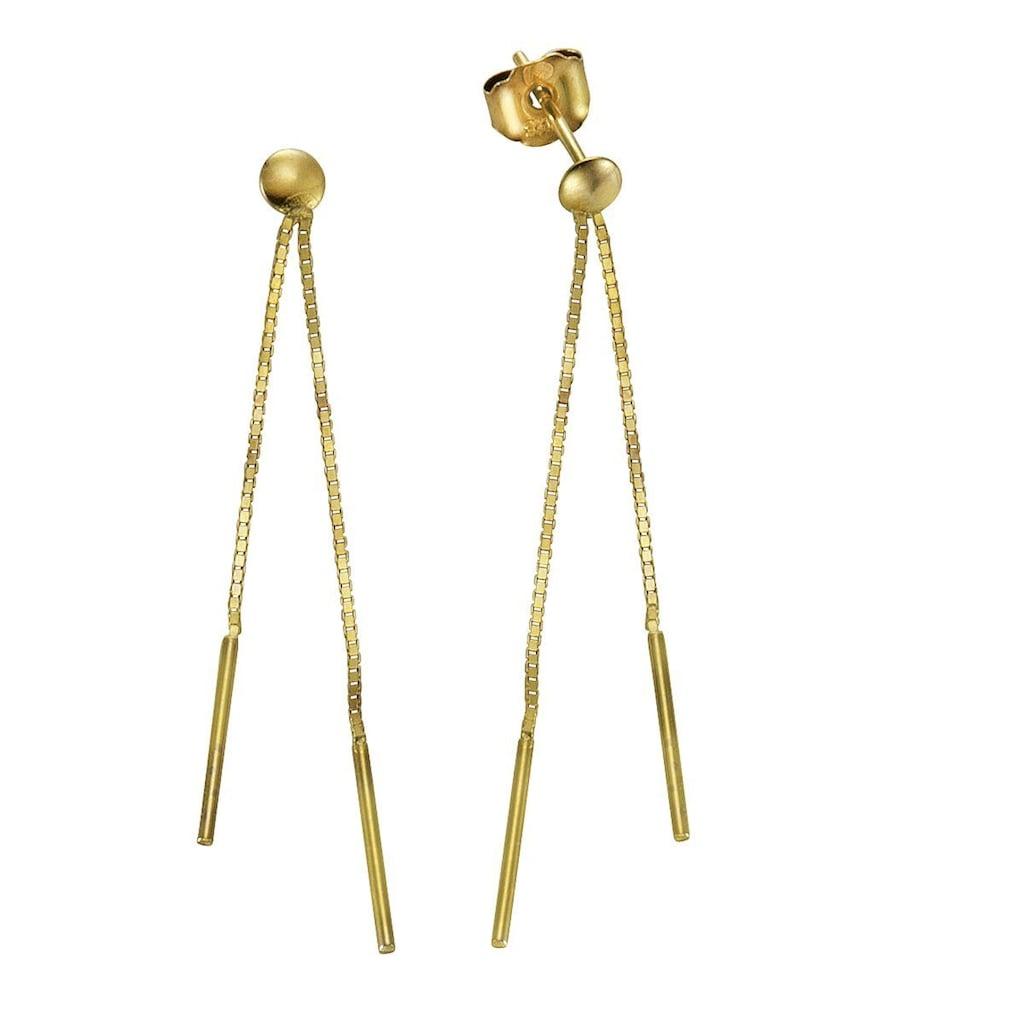 Vivance Paar Ohrhänger »333/- Gelbgold 2-reihig«, mit Geschenketui