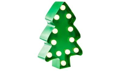 MARQUEE LIGHTS LED Dekolicht »Weihnachtsbaum«, 1 St., Warmweiß, Wandlampe, Tischlampe Xmas Tree mit 12 festverbauten LEDs - 11cm Breit und 23cm hoch kaufen