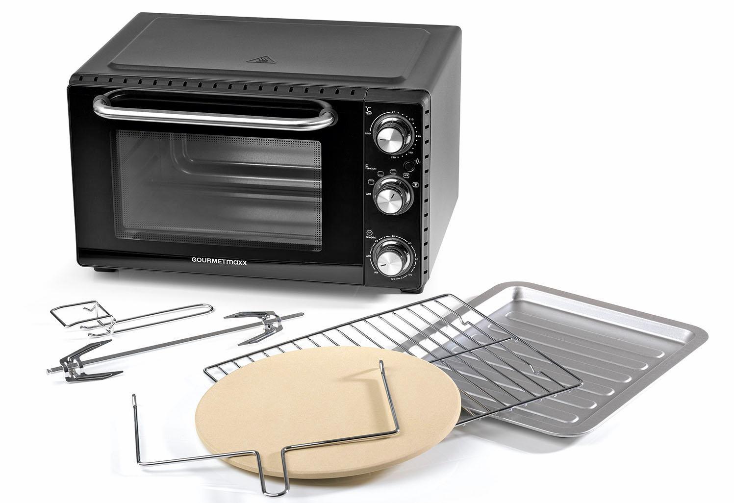 GOURMETmaxx Minibackofen Infrarot-Ofen 1500 W | Küche und Esszimmer > Küchenelektrogeräte > Küche Grill | Schwarz | Gourmetmaxx