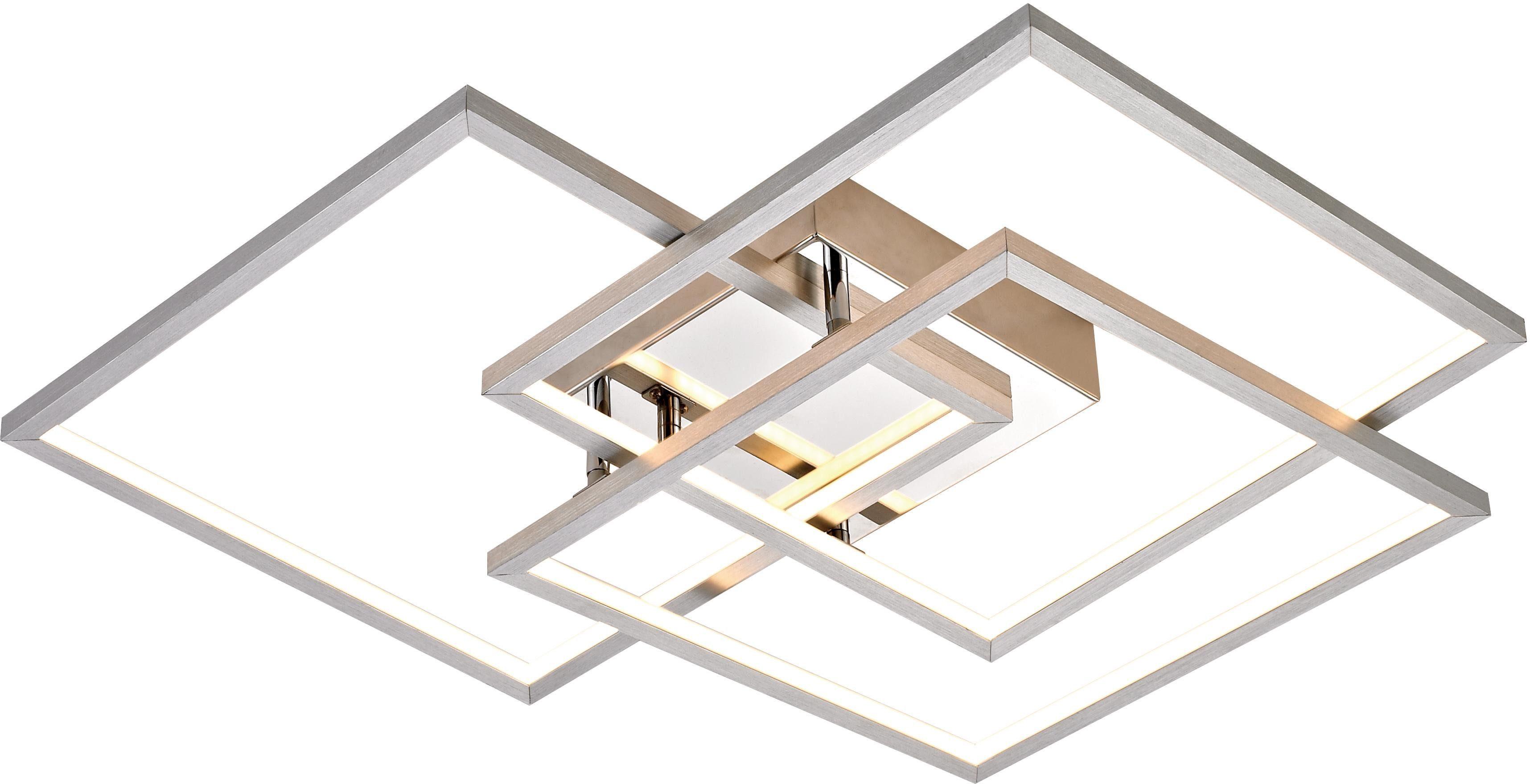 WOFI Deckenleuchte MANAS, LED-Board, Warmweiß, Deckenlampe