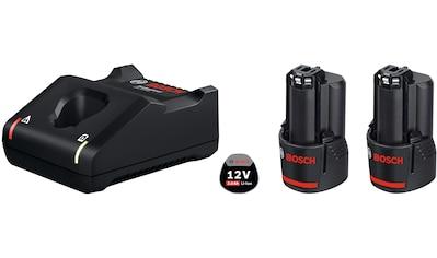 Bosch Professional Akku-Set »GAL 12V-40 / GBA 12V 3.0Ah«, 2 Akkus, inkl. Ladegerät kaufen