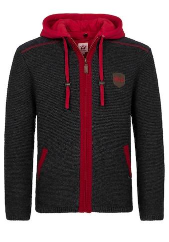 Spieth & Wensky FC Bayern Strickjacke Dakar mit Sweater - Kapuze kaufen