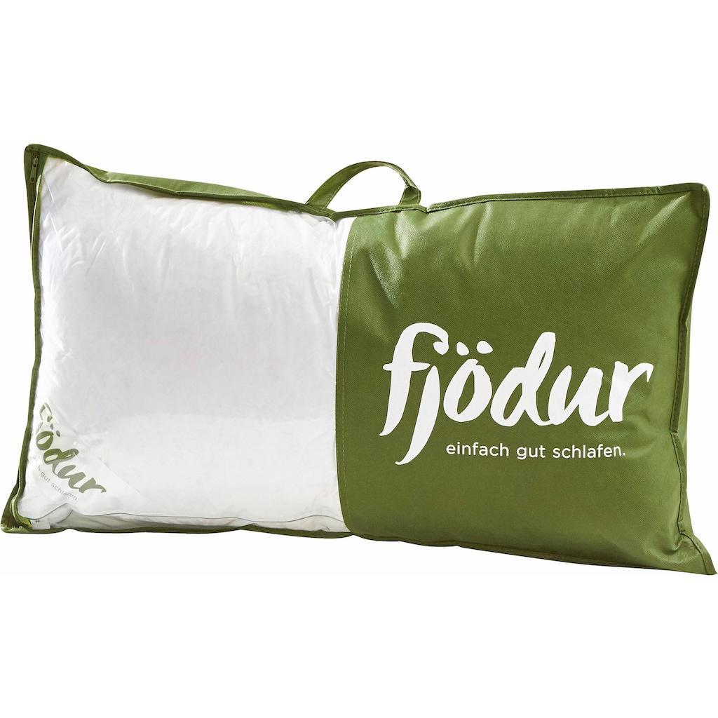 fjödur Federkopfkissen »Fabienne«, Füllung: 85% Federn, 15% Daunen, Bezug: 100% Baumwolle, (1 St.)