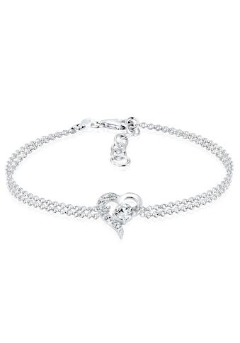 Elli Armband »Herz Liebe Kristalle 925 Silber« kaufen