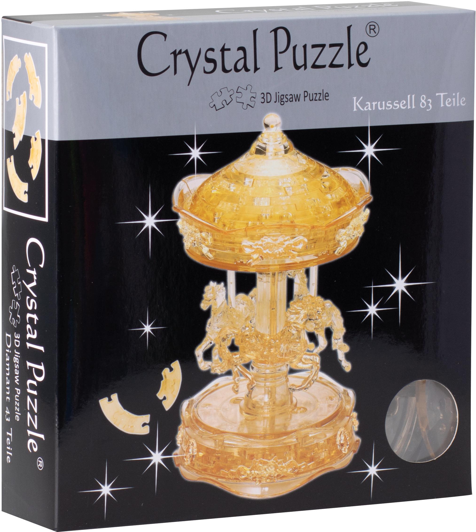 HCM KINZEL 3D-Puzzle Crystal Puzzle, Karussel transparent bunt Kinder Ab 12-15 Jahren Altersempfehlung Puzzles