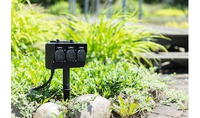 HEITRONIC Gartensteckdose »Dubai«, 3-fach, kompakte Abmessungen kaufen