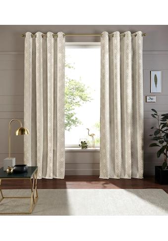 andas Vorhang »Finn«, blickdicht, hochwertiger Jacquard Stoff mit Rautenmuster kaufen