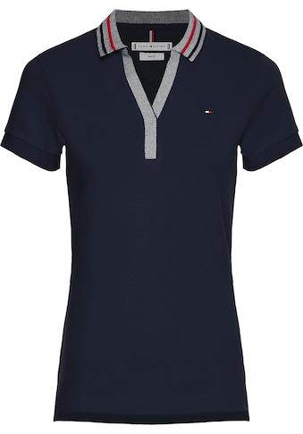 Tommy Hilfiger Poloshirt »SLIM TIPPING POLO SS«, mit kleinen seitlichen Schlitzen &... kaufen