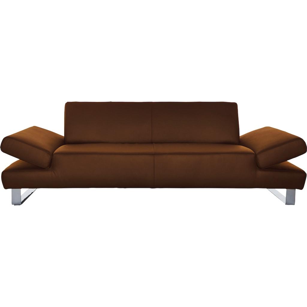 W.SCHILLIG 3-Sitzer »taboo«, mit Normaltiefe, inklusive Armlehnenverstellung