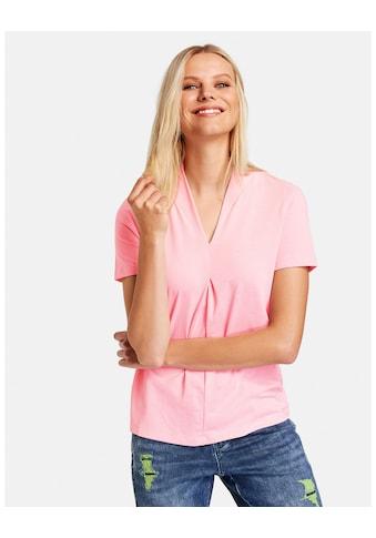Taifun Rundhalsshirt »Leicht ausgestelltes Shirt mit V - Ausschnitt« kaufen