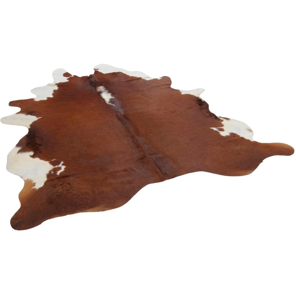 THEKO Fellteppich »Muh 681«, fellförmig, 3 mm Höhe, echtes Rinderfell, Naturprodukt - daher ist jedes Rinderfell ein Einzelstück, Wohnzimmer