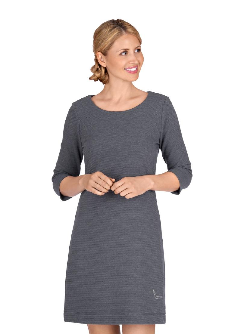 Trigema Kleid mit Swarovski Kristallen lila Damen Knielange Kleider
