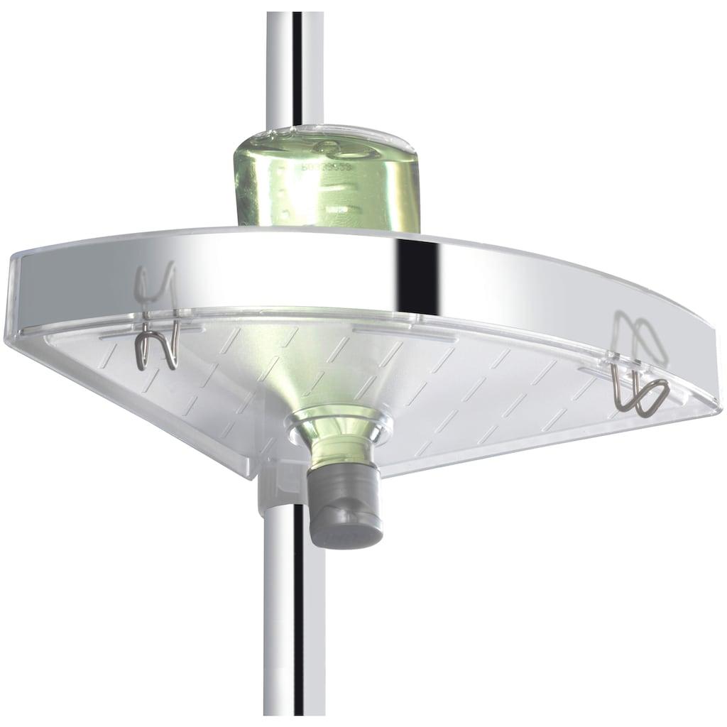 WENKO Teleskopregal »Premium«, Höhe 70-260 cm ausziehbar, mit Spiegel und 2 Haken