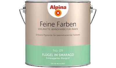 ALPINA Wand -  und Deckenfarbe »Feine Farben  -  Flügel in Smaragd«, 2,5 l kaufen