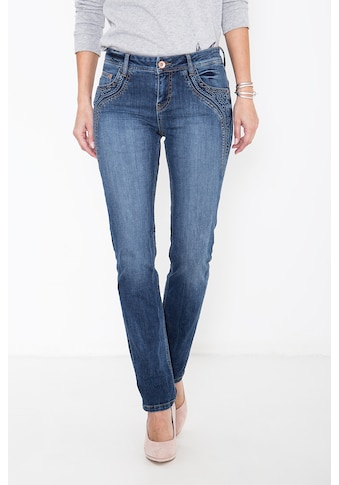ATT Jeans Straight-Jeans »Stella«, mit floraler Applikation kaufen