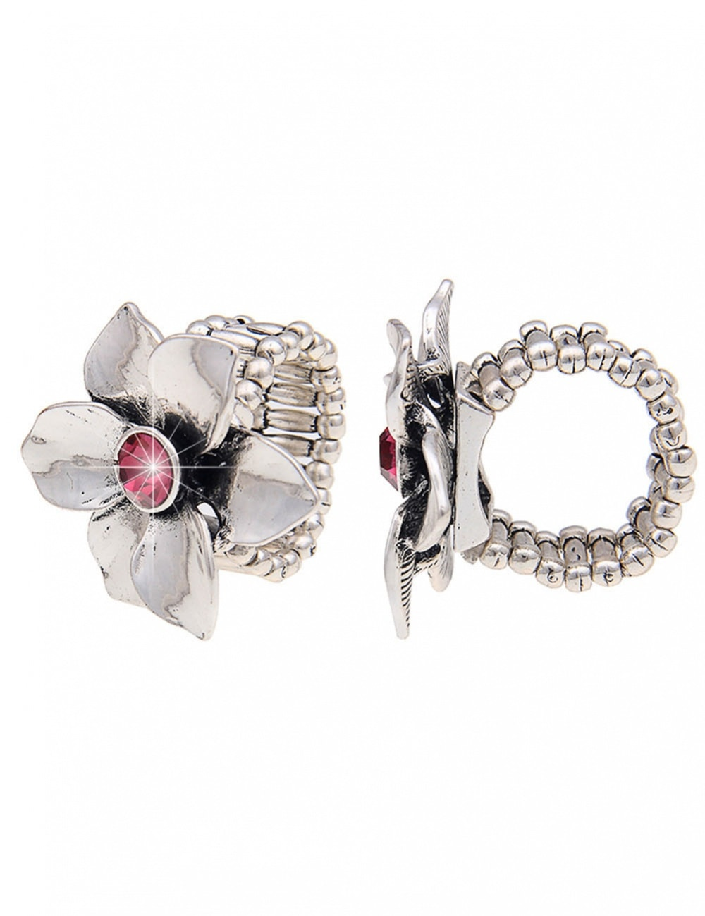 leslii -  Ring mit einer glänzenden Blüte besetzt