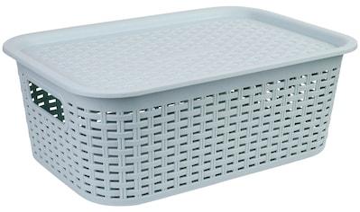 axentia Aufbewahrungskorb »Korb aus Kunststoff, mittel«, mit Deckel kaufen