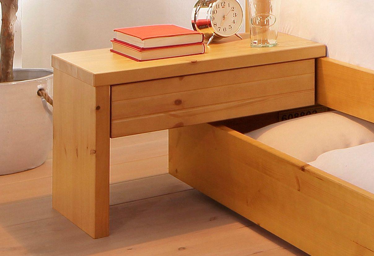 Nachtkonsole Home affaire | Schlafzimmer > Nachttische | Braun | Gebeizt | home affaire