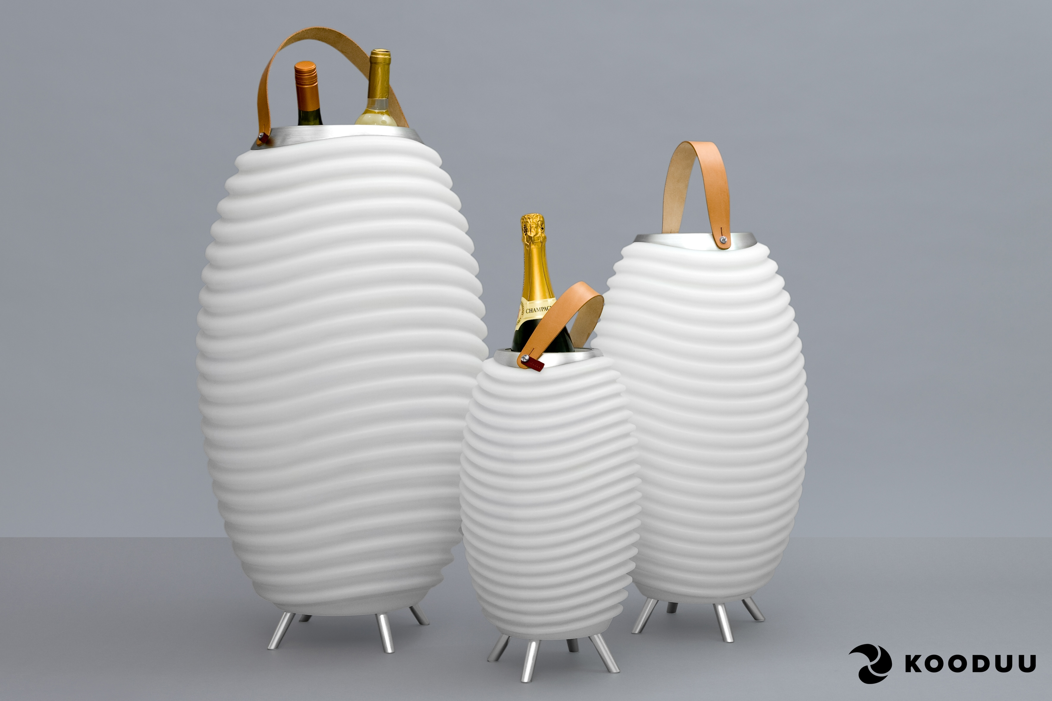 kooduu LED Stehlampe Synergy S, 1 St., Warmweiß, 3-in 1 LED Designer-Lampe, günstig online kaufen