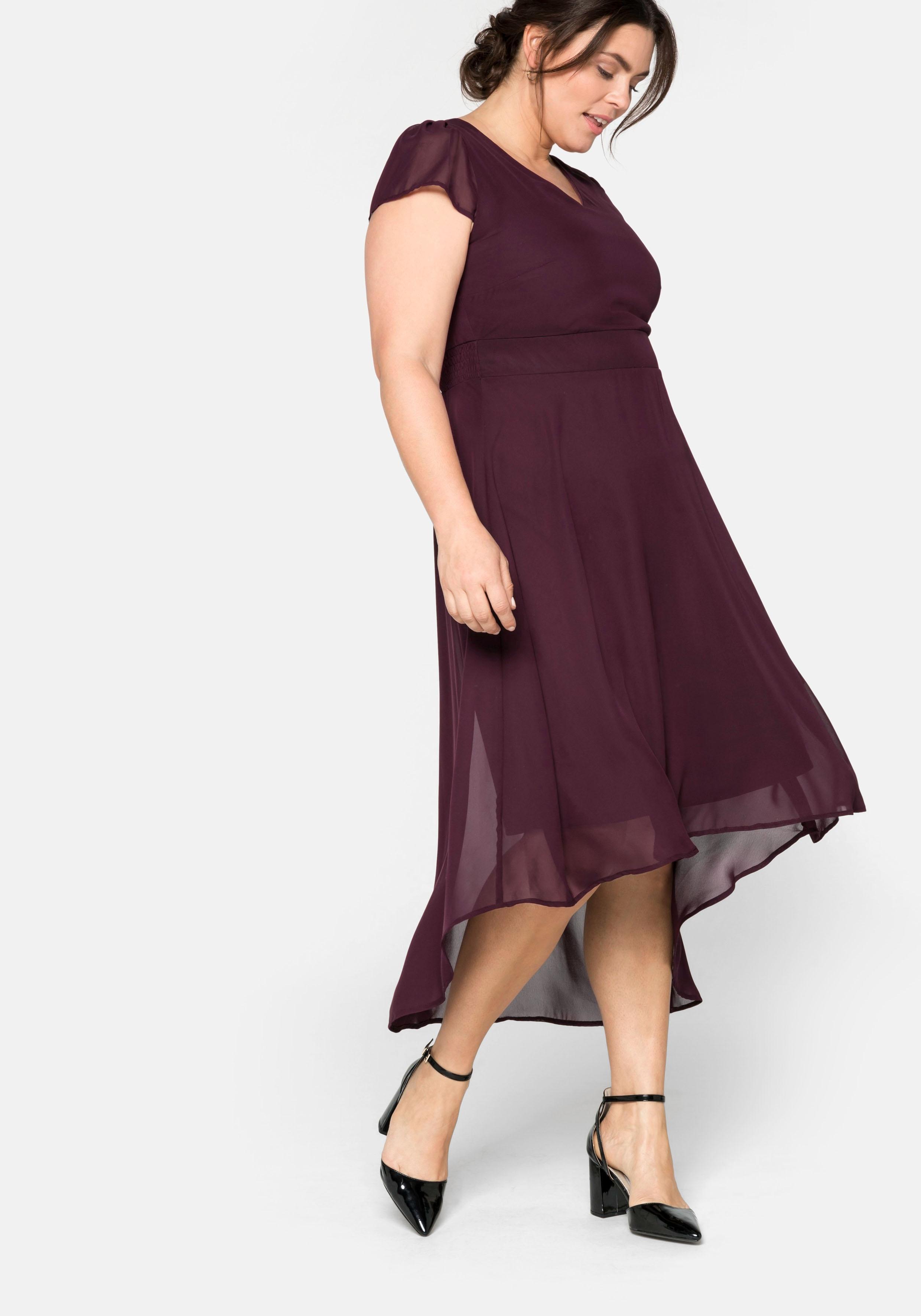 Sheego Abendkleid, mit Flügelärmeln rot Damen Abendkleider Kleider Abendkleid