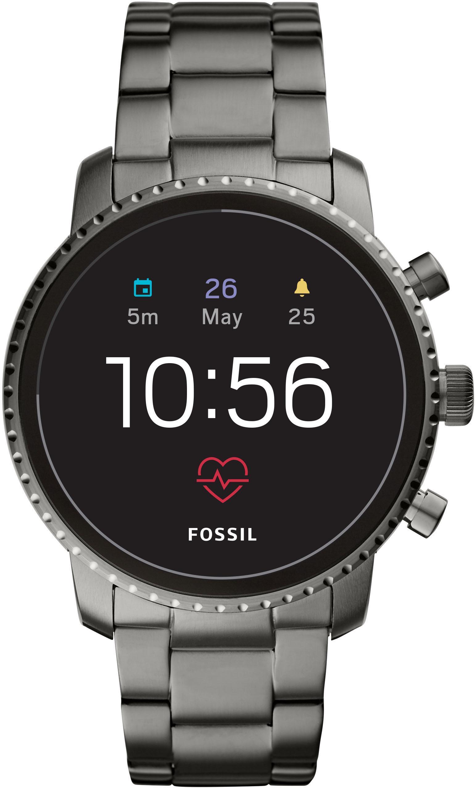Fossil Smartwatches Q EXPLORIST HR FTW4012 Smartwatch (Wear OS by Google) | Uhren > Smartwatches | Fossil Smartwatches